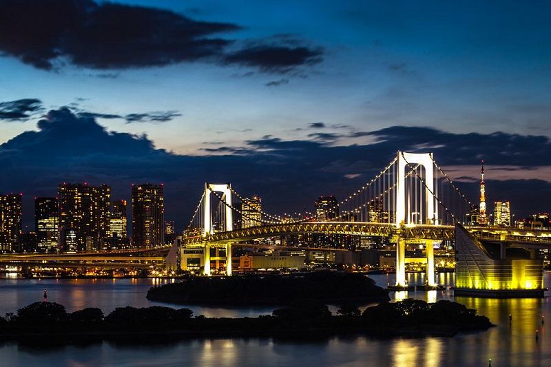 Rainbow Brdige Odaiba Tóquio.