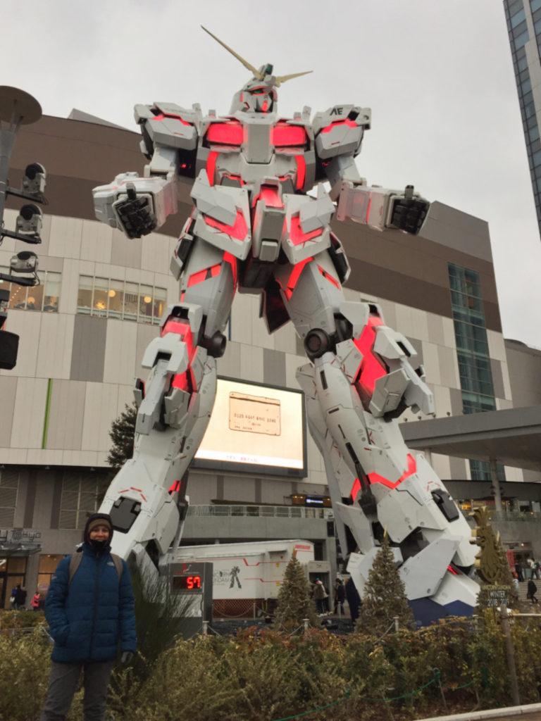 Unicorn Gundam Odaiba Tóquio.