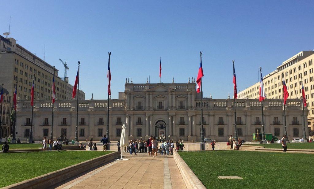 Palácio La Moneda, em Santiago do Chile.