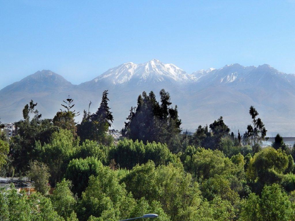 vista do vulcão em Arequipa