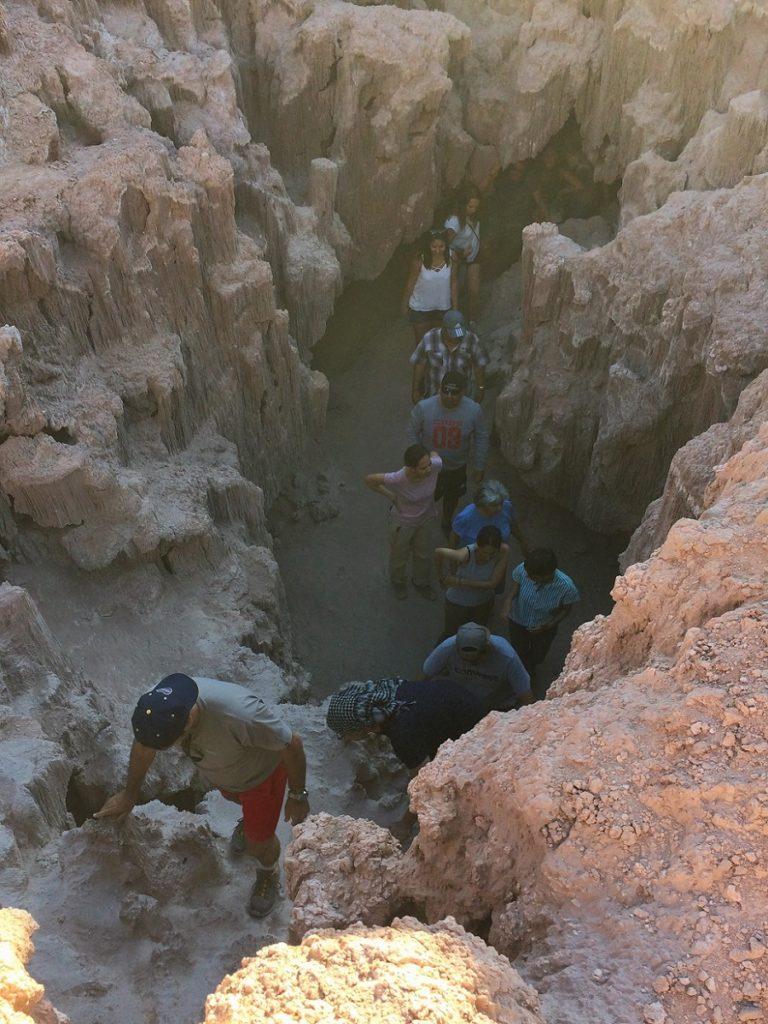 Cuevas de Sal, no Atacama.