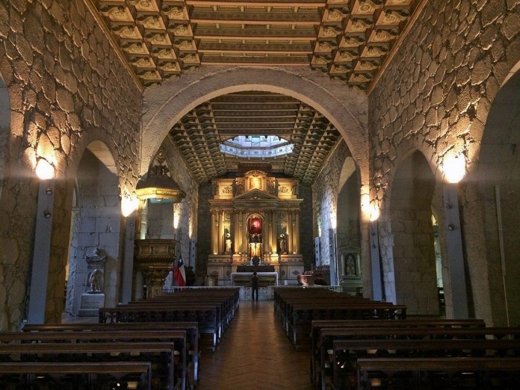 Igreja São Francisco, em Santiago.