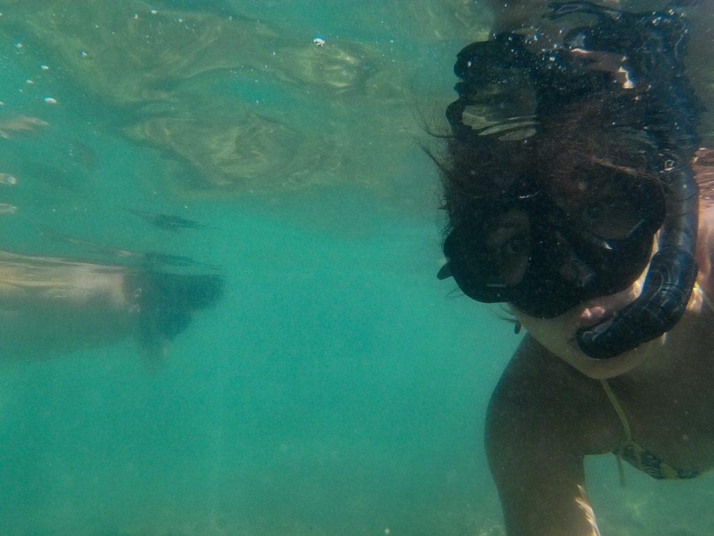 Snorkel em Lading Island.