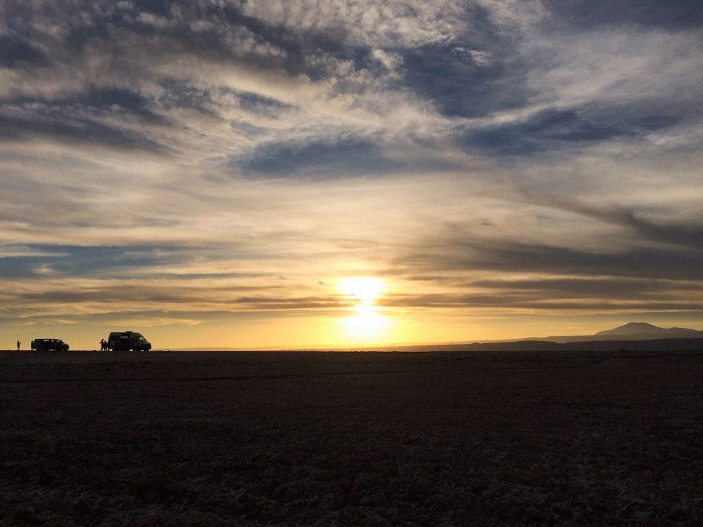 Entardecer no Atacama.