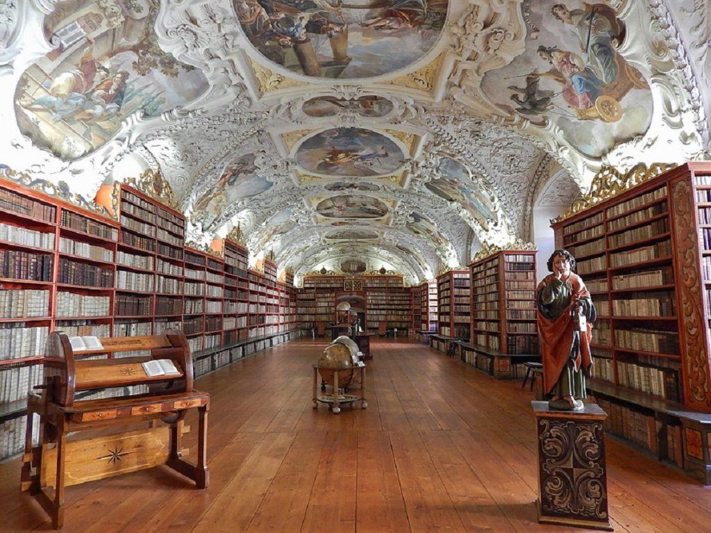 Bliblioteca do Mosteiro de Strahov.
