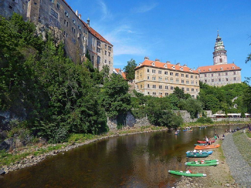 Rio Moldava, em Cesky Krumlov.