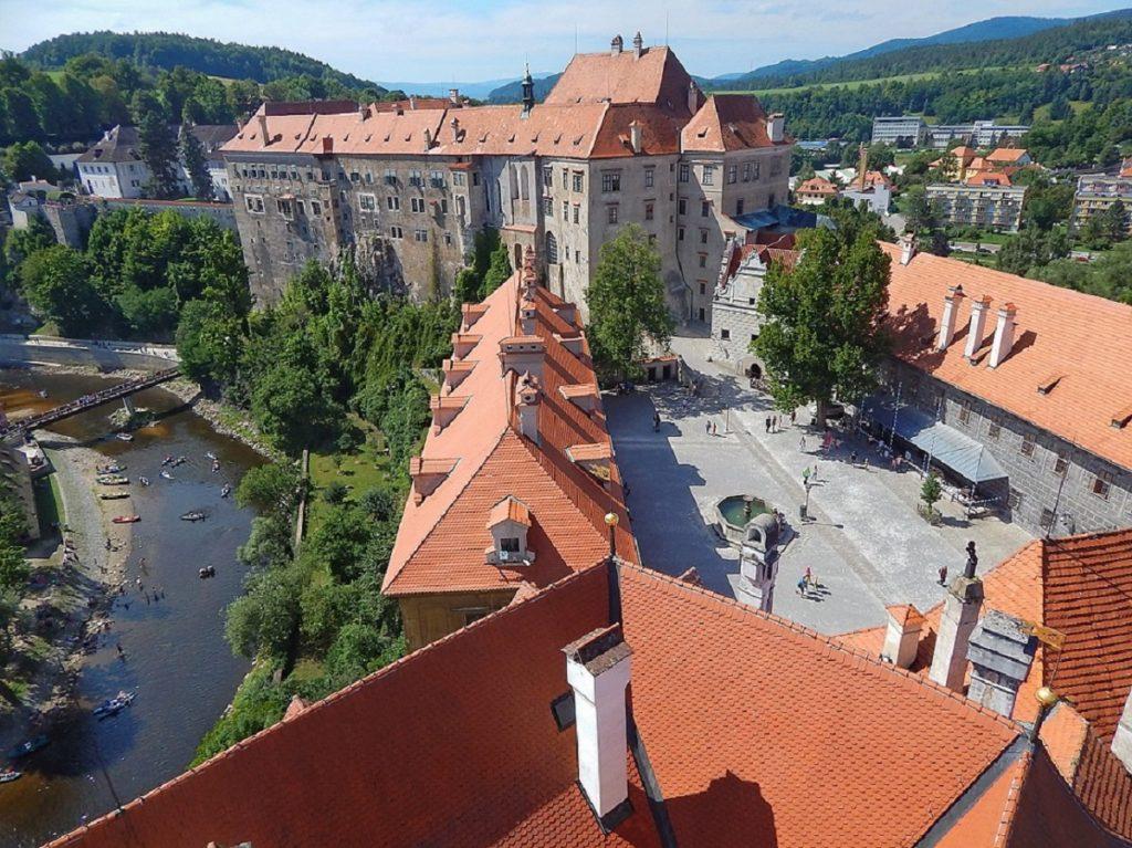 Vista da torre do castelo.