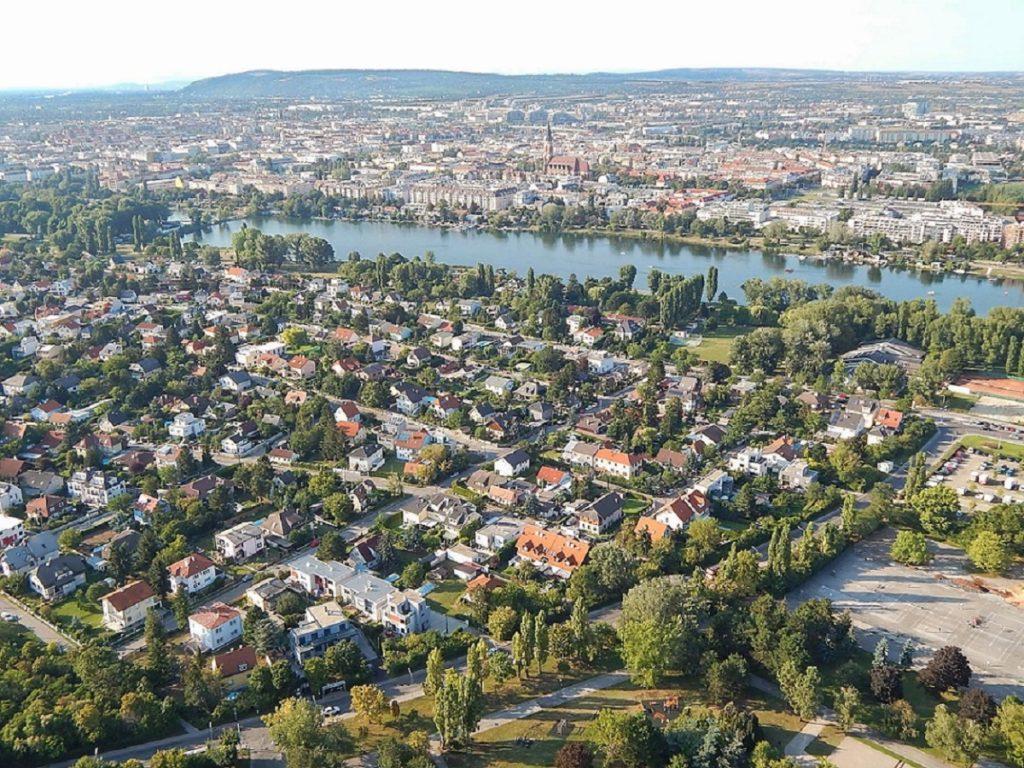 Vista da Donauturm.