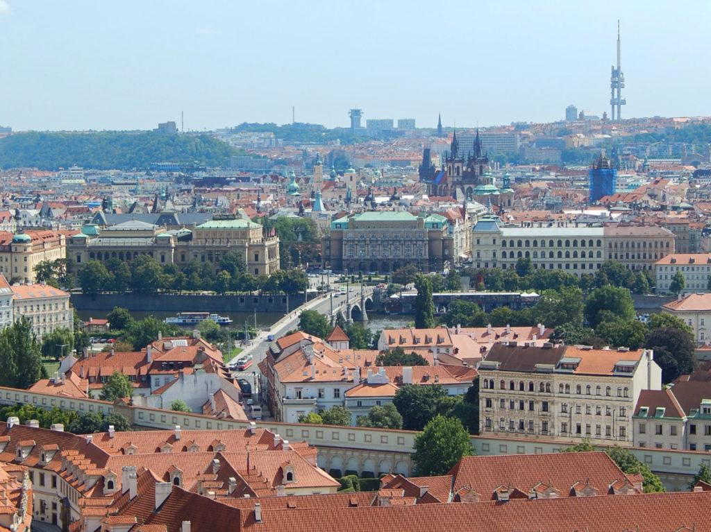 Vista de Praga a partir do Castelo.
