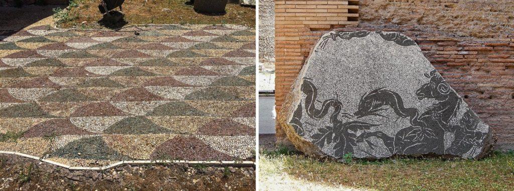 Mosaicos das Termas de Caracalla.