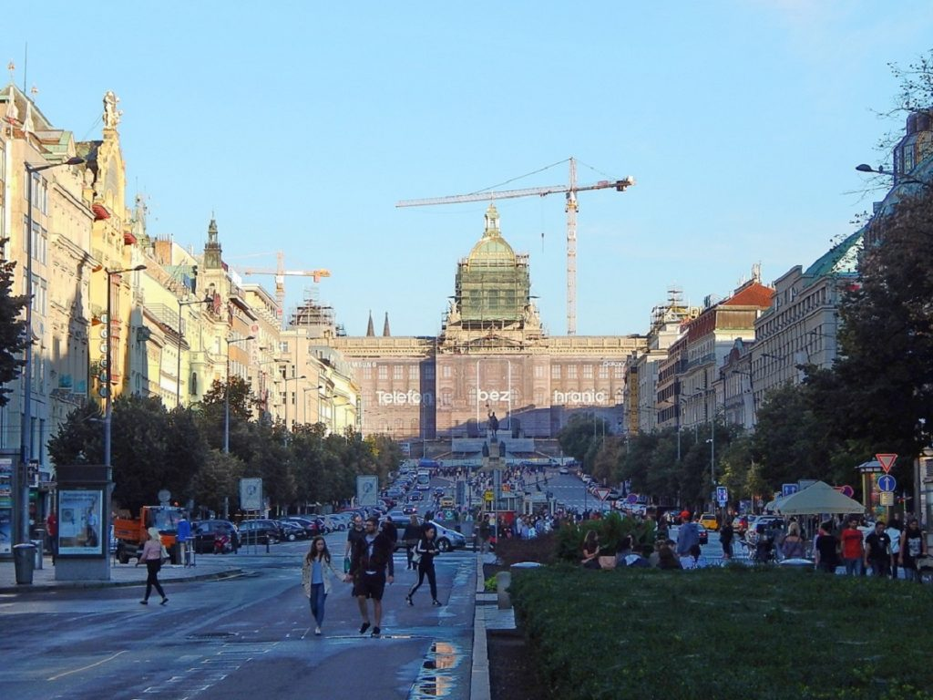 Wenceslas Square.